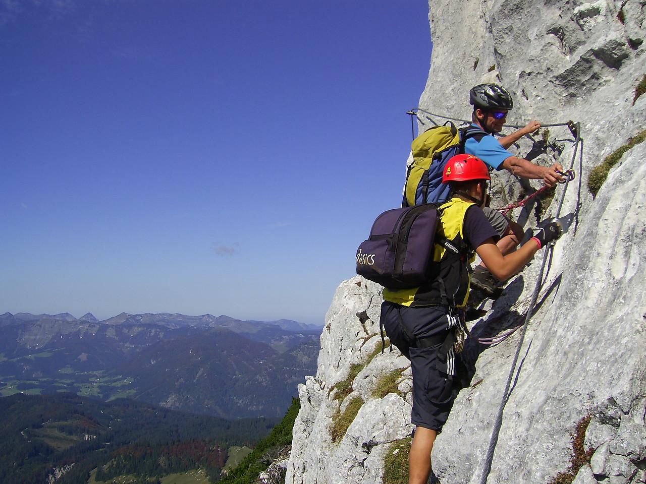 Klettersteig Donnerkogel : Climbing the donnerkogel klettersteig